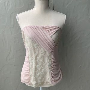The Limited Pink Lace Tube Top Large